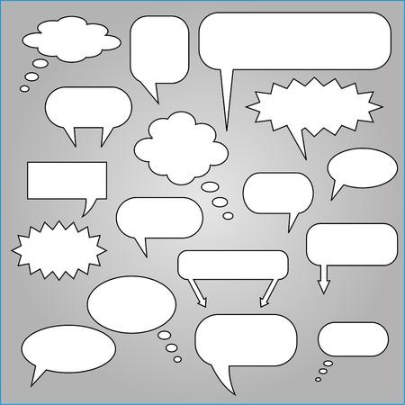 crunches: Comic Speech Chat Bubbles Illustration