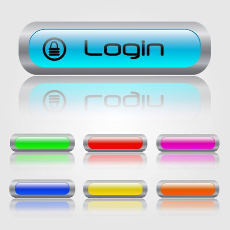 Colorful Web Buttons Stock Vector - 7253176