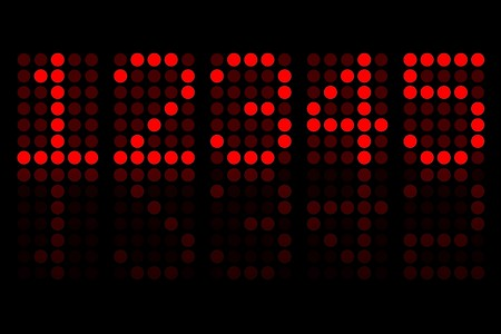 Red Digits Matrix Display