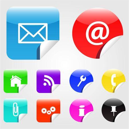 Web Stickers Stock Vector - 7253171