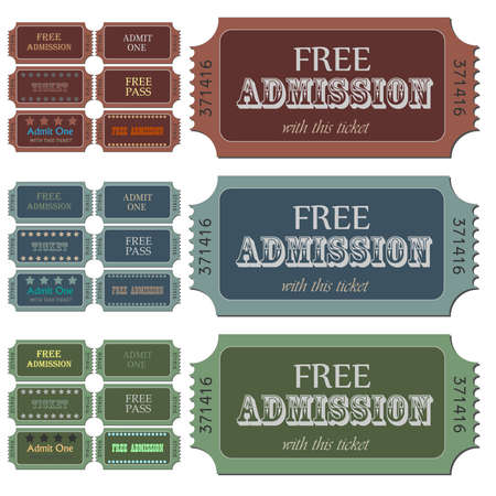 Image of various admission tickets. Stock Photo - 7302375