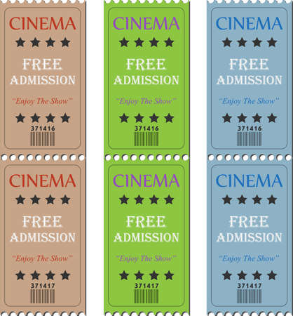 Image of various cinema tickets.