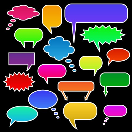chat bubbles: Color Chat Bubbles Stock Photo