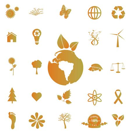 Image of various eco-friendly icons. Stock Photo - 7302350