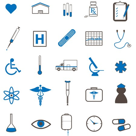 Image of various medical icons. Stock Photo - 7302340