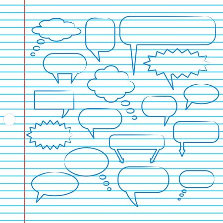 chat bubbles: Chat Bubbles on Notebook Paper