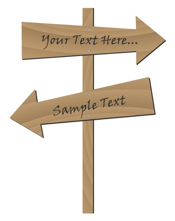 Image of wooden signs with editable text.