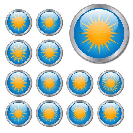 Sun Buttons Stock Photo - 7316400