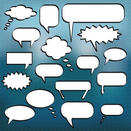 chat bubbles: Comic Chat Bubbles Stock Photo