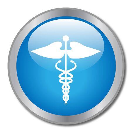 Blue Medical Button photo