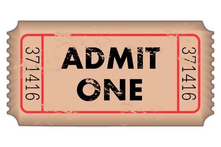 Vintage Admission Ticket photo