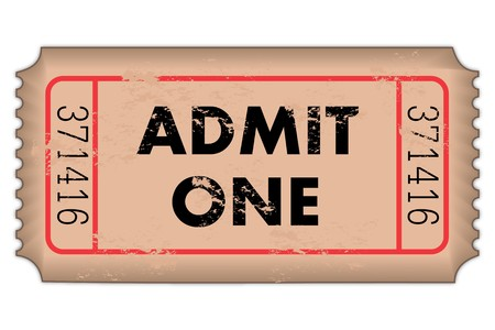 admit: Vintage Admission Ticket