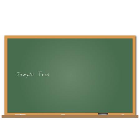 サンプル テキスト付きの黒板のイメージ。