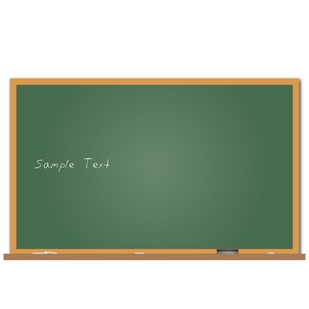 Image of a chalkboard with sample text.