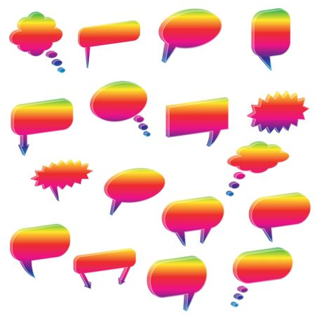 Image of various colorful chat bubbles. Stock Vector - 7453118