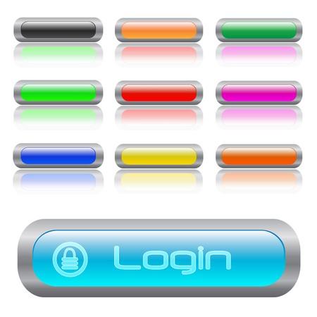 Image of various colorful web login bars. Stock Vector - 7453103
