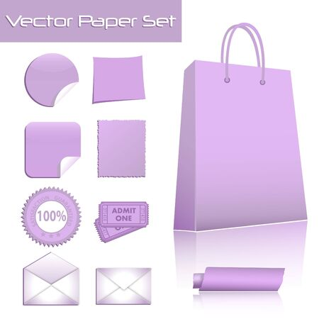 Colorful image of various paper products. Stock Vector - 7453120
