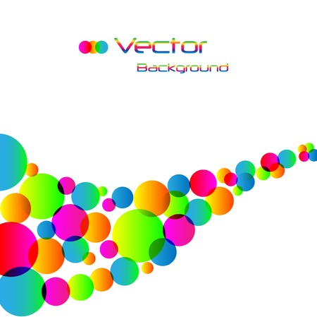 Abstract colorful rainbow background. Stock Vector - 7453105