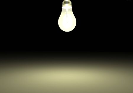Image of a light bulb against a dark background. photo