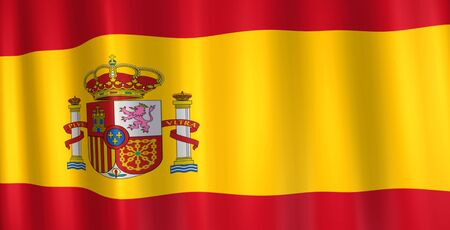 Image of the flag from Spain. Banco de Imagens