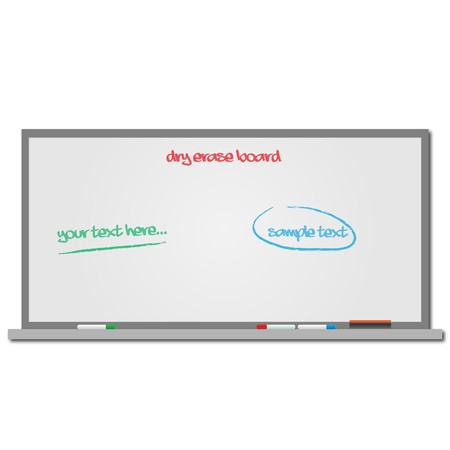 Image of a dry erase board with editable text. photo