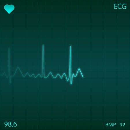 Image of an electronic heart monitor. Stock Photo - 7550397
