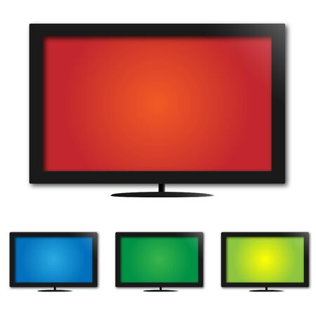 lcd: Image of colorful lcd monitors  screens.