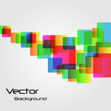 Imagen de fondo de los cuadrados de arco iris abstracta.  Vectores