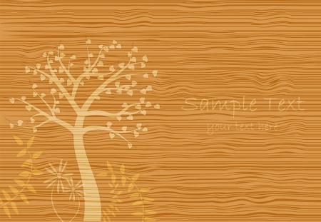 Image d'une texture de grain de bois avec une scène.