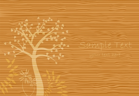 Image of a wood grain texture with a scene. Stock Vector - 7580747