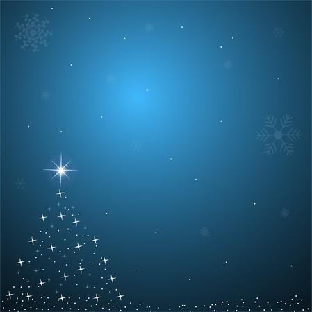 Image of a blue Christmas background scene. photo