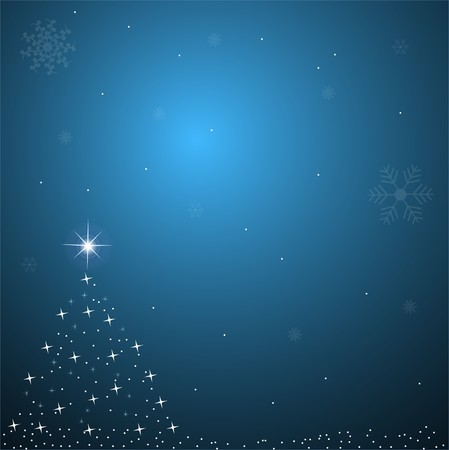 festive background: Image of a blue Christmas background scene.