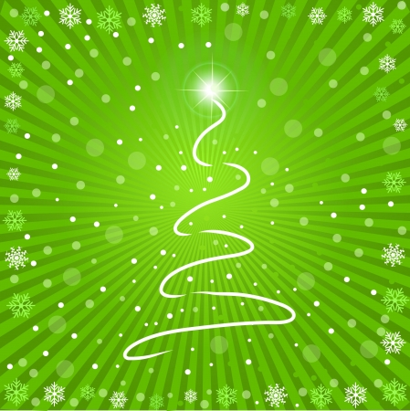 Image of a colorful green Christmas background. photo