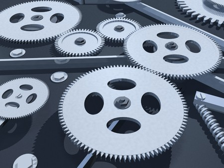 Image of various 3D gears. photo