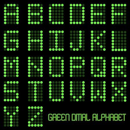 アルファベットの文字をデジタルのイメージ。