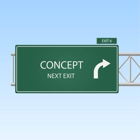 business sign: Image of a highway sign with an exit to Concept