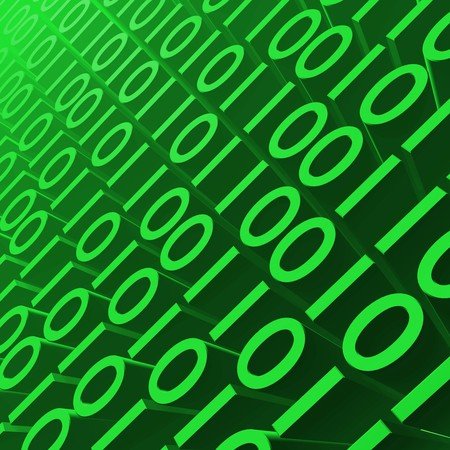 code computer: 3D background image of blue binary digits.