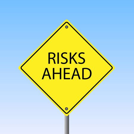 risks ahead: Imagen de un amarillo