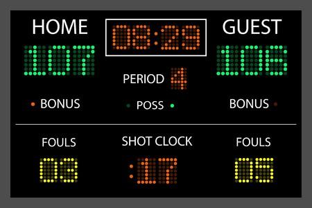 Image of a digital scoreboard. Standard-Bild