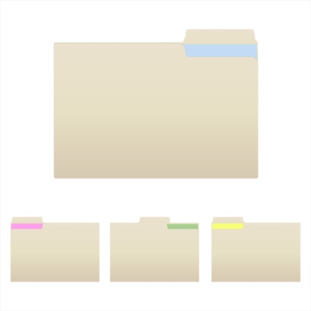 Image of various manilla folders isolated on a white background. Stock Photo - 8380409