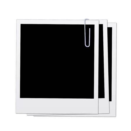 다양 한 폴라로이드 흰색 배경에 고립의 이미지.
