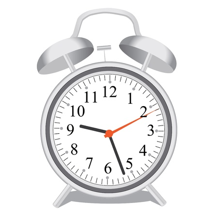 Image of an alarm clock isolated on a white background.