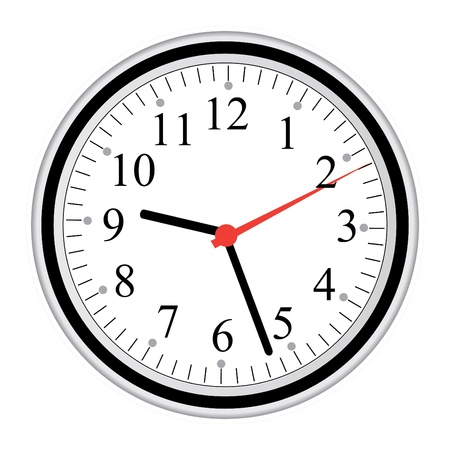 Image of a clock isolated on a white background. Illustration