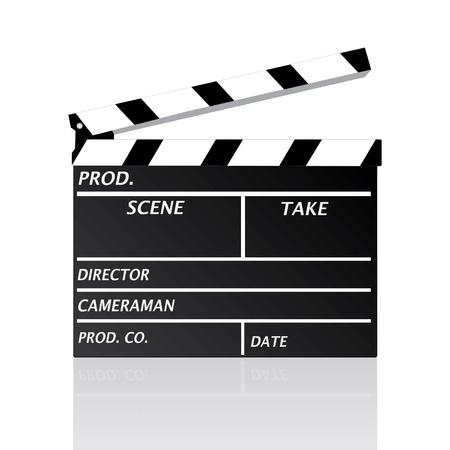 Immagine di un clipboard filmato isolato su uno sfondo bianco. Archivio Fotografico - 8602691