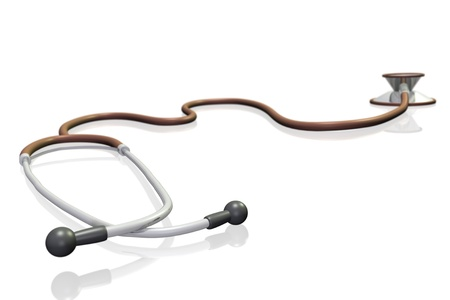 Image of a 3D stethoscope isolated on a white background. Stock Photo - 8855988