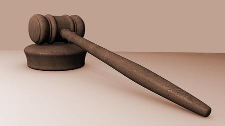 Image of a judges gavel on a gray background. Reklamní fotografie