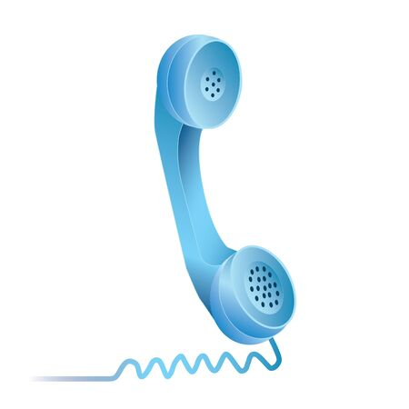 Image of a colorful, blue phone isolated on a white background. Stock fotó