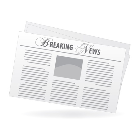 Image of a newspaper with a