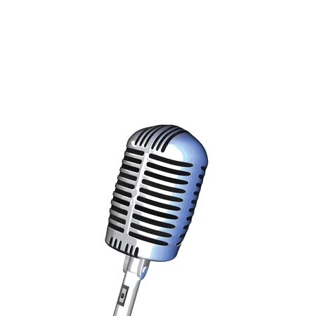 songwriter: Image of a microphone isolated on a white background.
