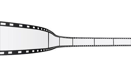 Afbeelding van een film reel geïsoleerd op een witte achtergrond.